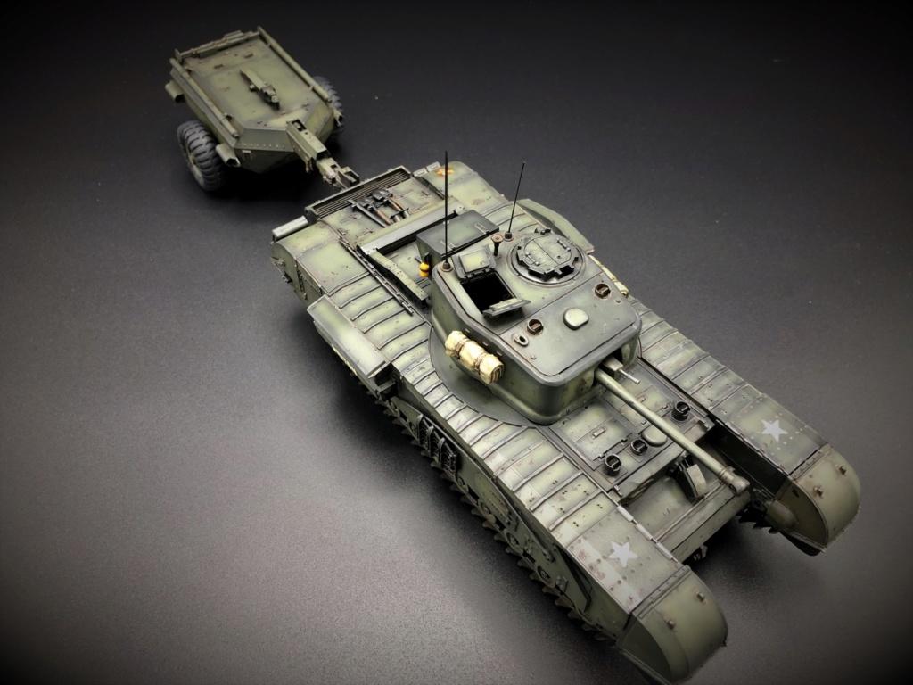 Churchill Crocodile Mk. VII w/ trailer _ Tamiya 1/35  Img_e974