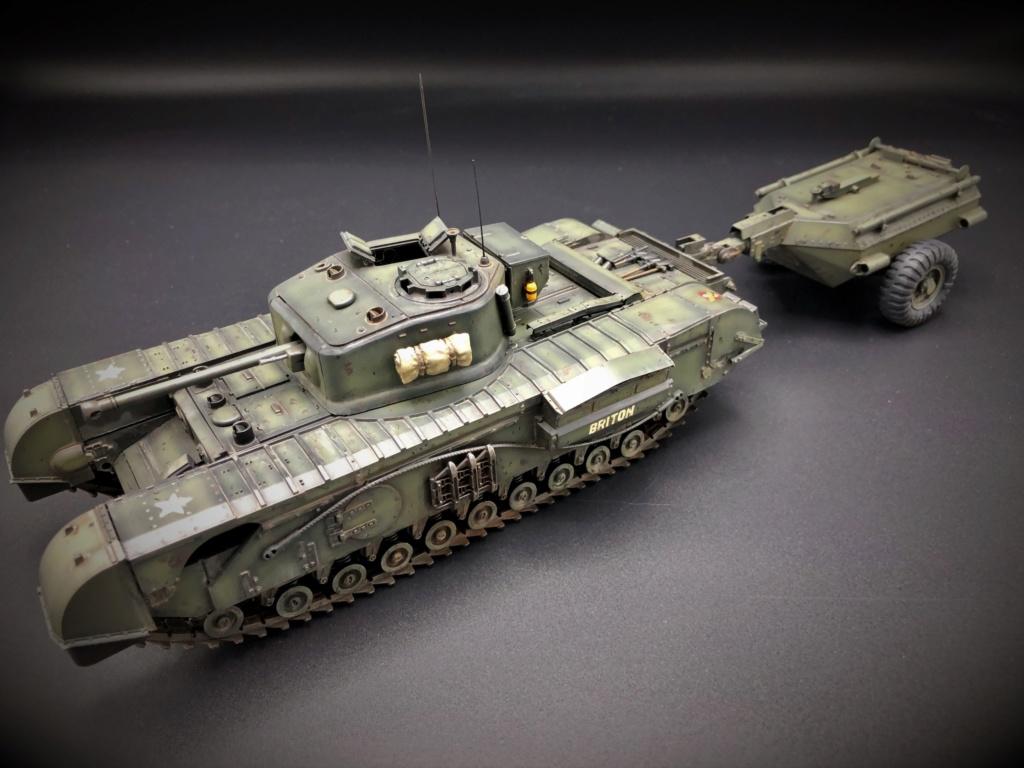 Churchill Crocodile Mk. VII w/ trailer _ Tamiya 1/35  Img_e975