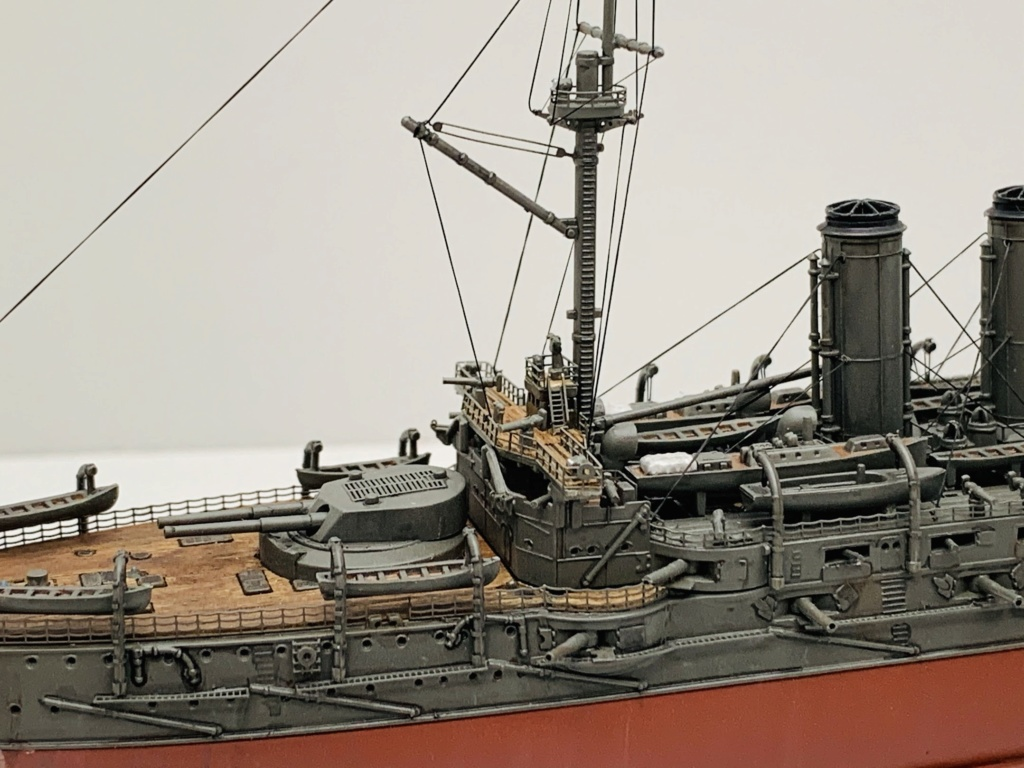 LE MIKASA 1/700 de HASEGAWA full hull + PE + wood deck 00312