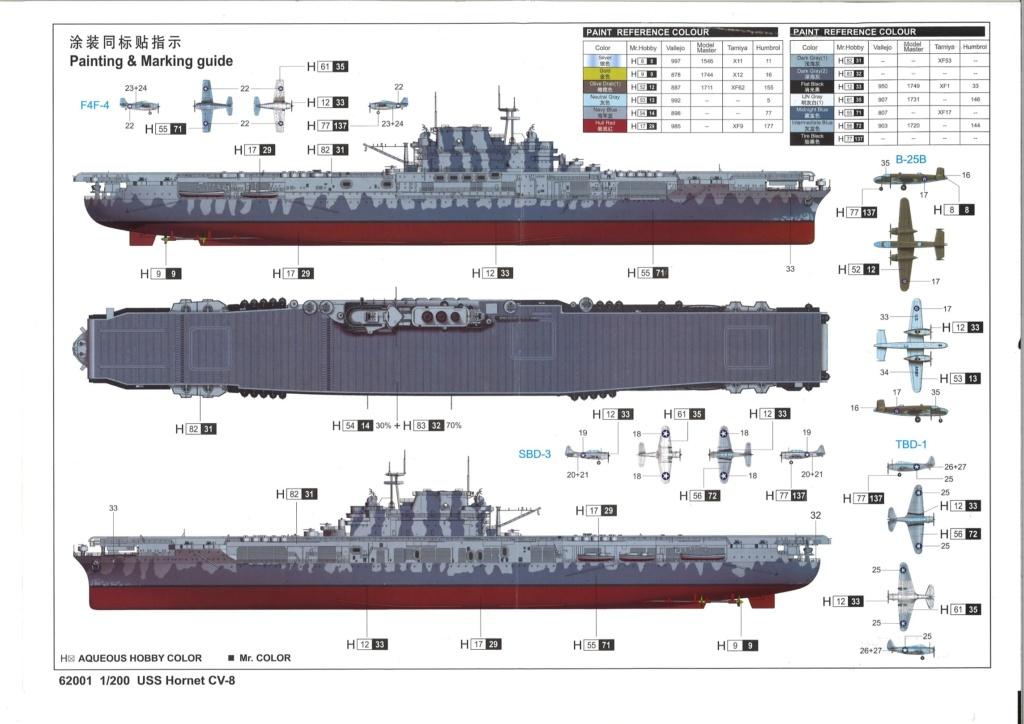 USS HORNET 1/200 MERIT + BIG ED Eduard + MK1 20190522