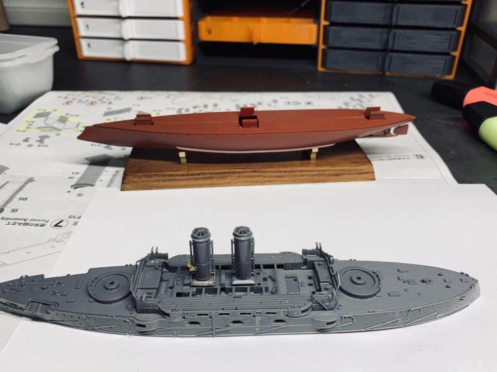 LE MIKASA 1/700 de HASEGAWA full hull + PE + wood deck Img_2414