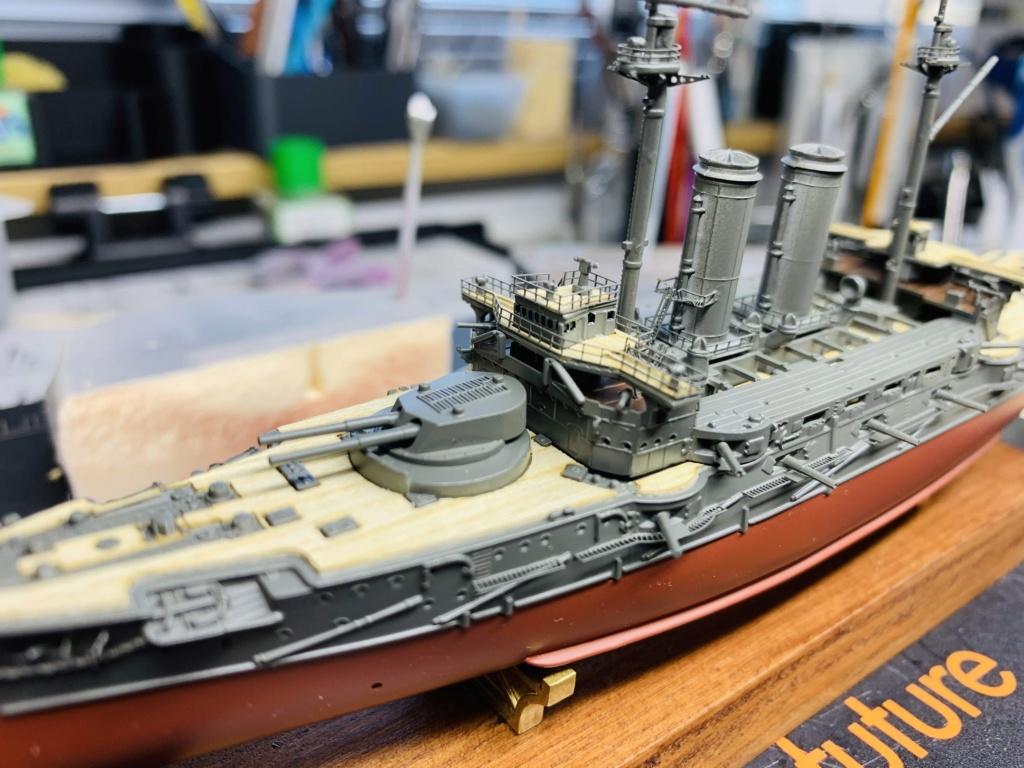 LE MIKASA 1/700 de HASEGAWA full hull + PE + wood deck Img_2530