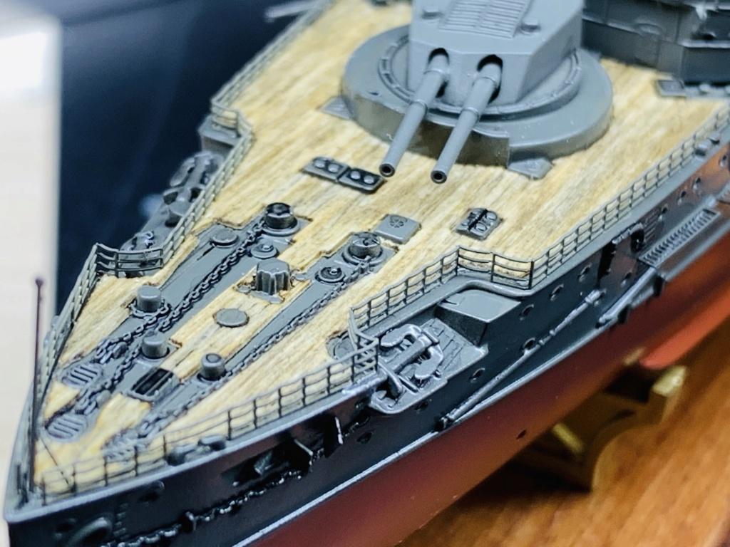 LE MIKASA 1/700 de HASEGAWA full hull + PE + wood deck - Page 2 Img_2534