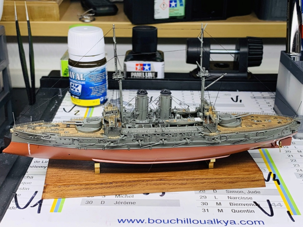 LE MIKASA 1/700 de HASEGAWA full hull + PE + wood deck - Page 2 Img_2611