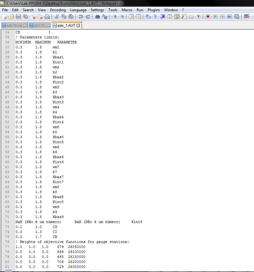 Calibração automatica, erro de leitura de dados. Captur15