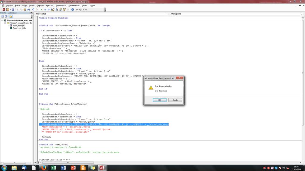 [Resolvido]Dificuldade em buscar critério em formulário para Consulta SQL em VBA Sem_tz10