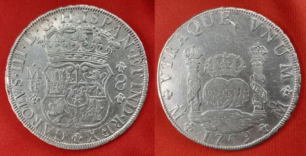 Carlos III, 8 reales, México, 1769 Carlos10