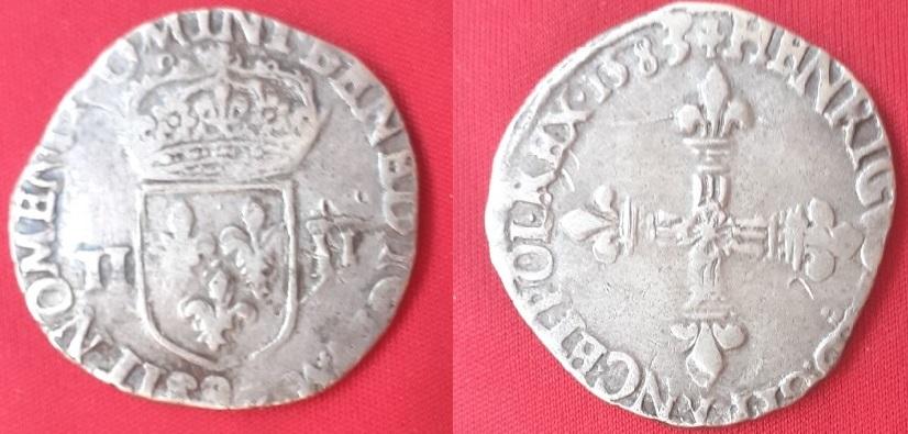 1/4 de Écu, Henri III de Francia, 1583 Franci10