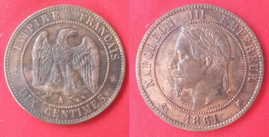 Francia, 10 centimes, 1861 Franci11