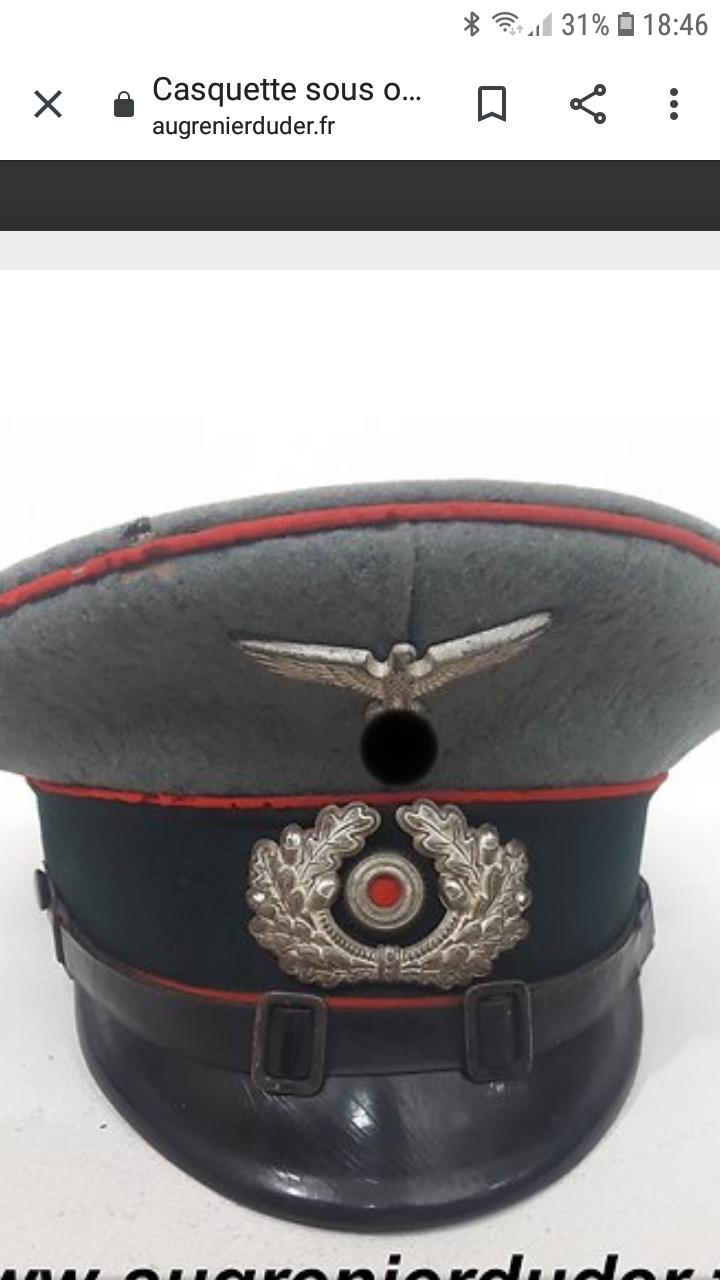 Casquette Allemande sous officier artillerie ww2 Scree147