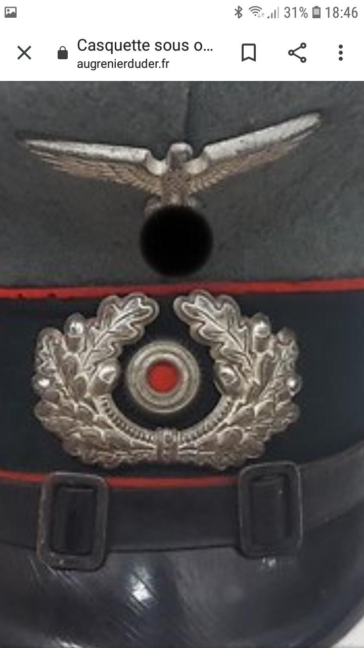 Casquette Allemande sous officier artillerie ww2 Scree153