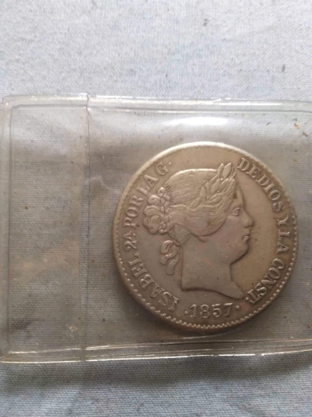 20 reales 1857. Isabel II. Opinión 5718c310