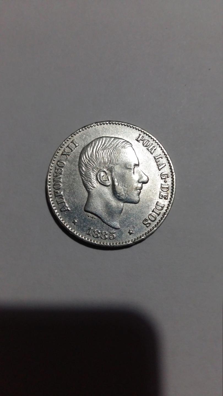 50 centavos de Peso 1885. Alfonso XII. Filipinas 20190832