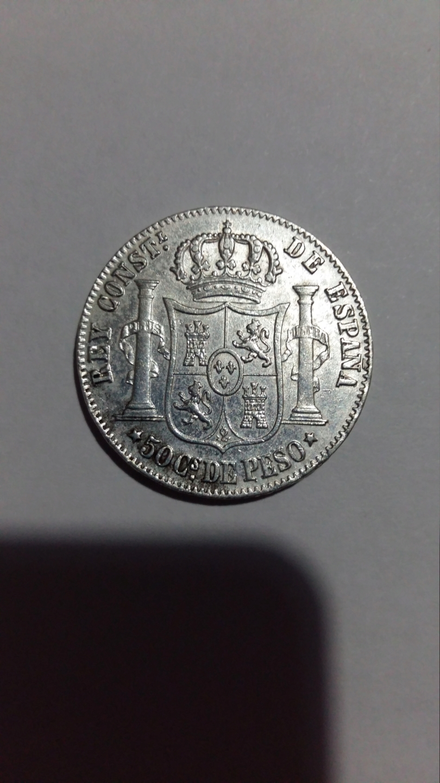 50 centavos de Peso 1885. Alfonso XII. Filipinas 20190833