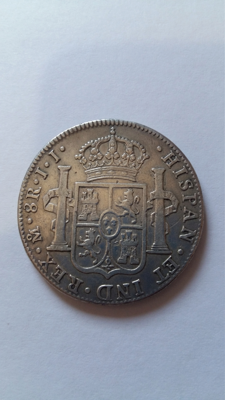 8 Reales 1821. Fernando VII.  México JJ 20190858