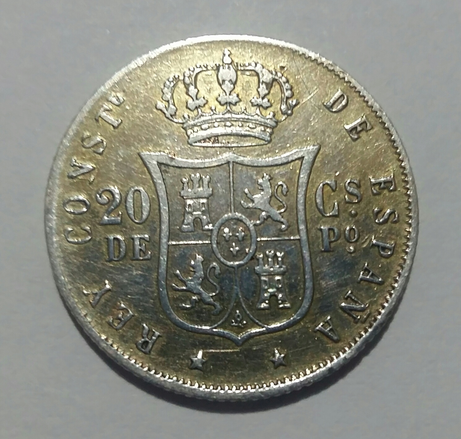 20 Centavos de Peso 1884. Alfonso XII. Manila 20190913