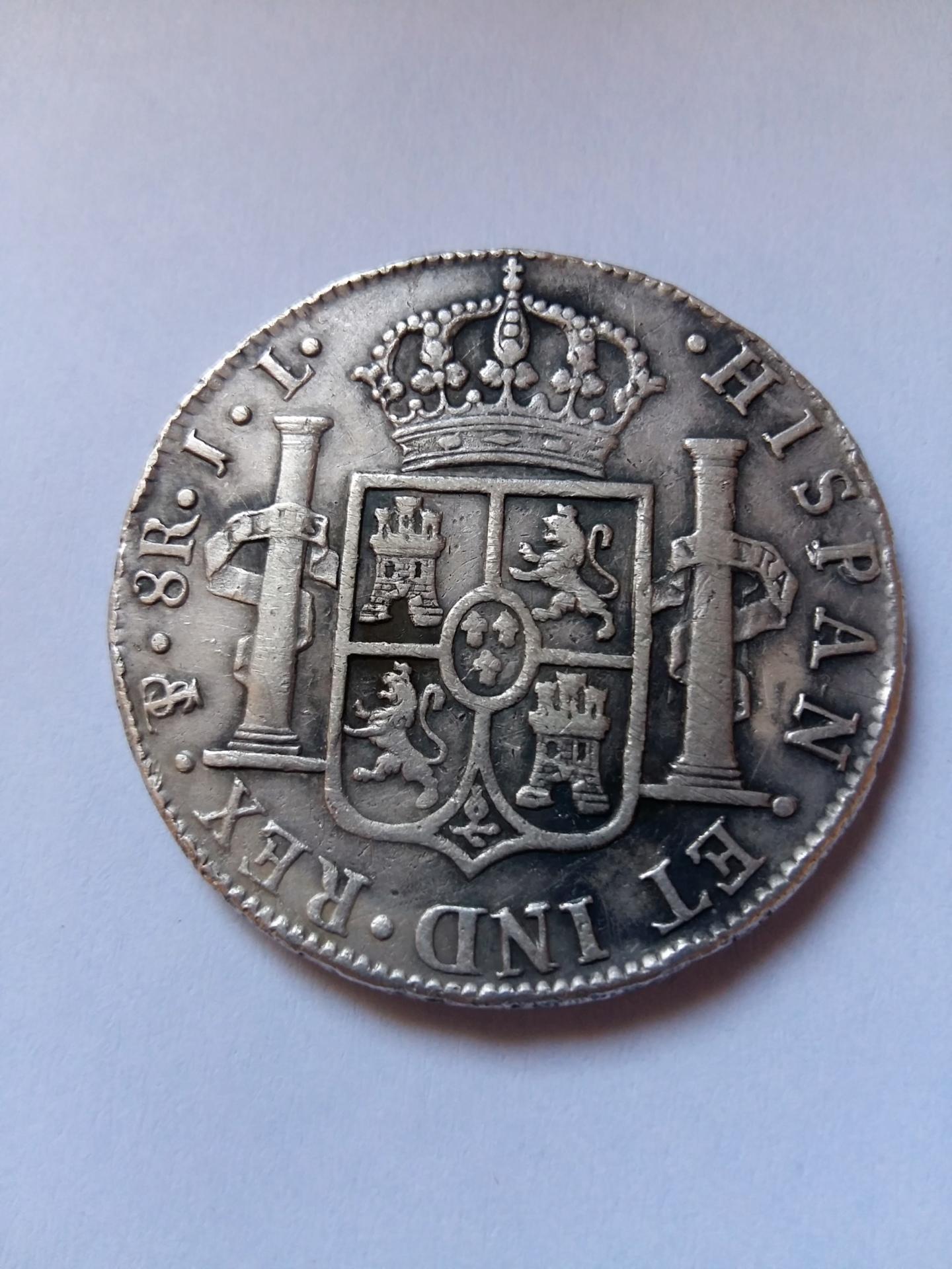 8 Reales 1825. Fernando VII. Potosí JL 20190915