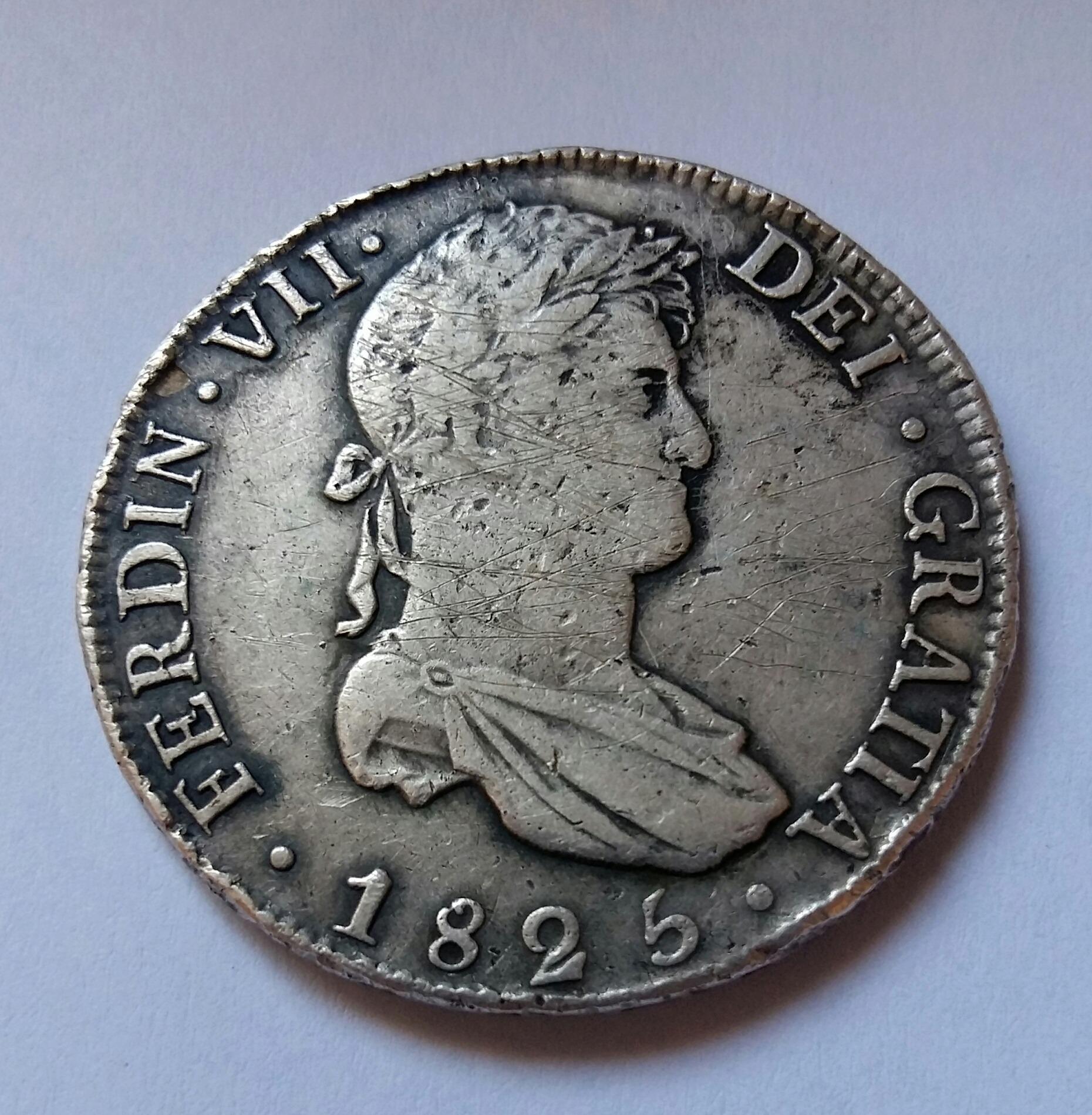 8 Reales 1825. Fernando VII. Potosí JL 20190916