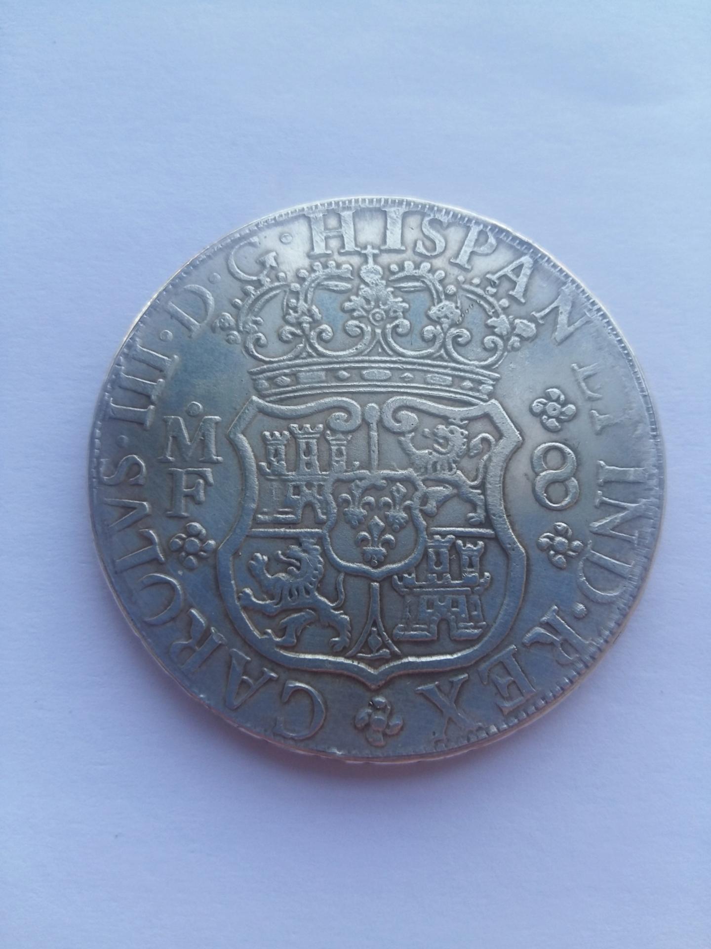 8 Reales 1762 Mejico MF - Carlos III 20191017