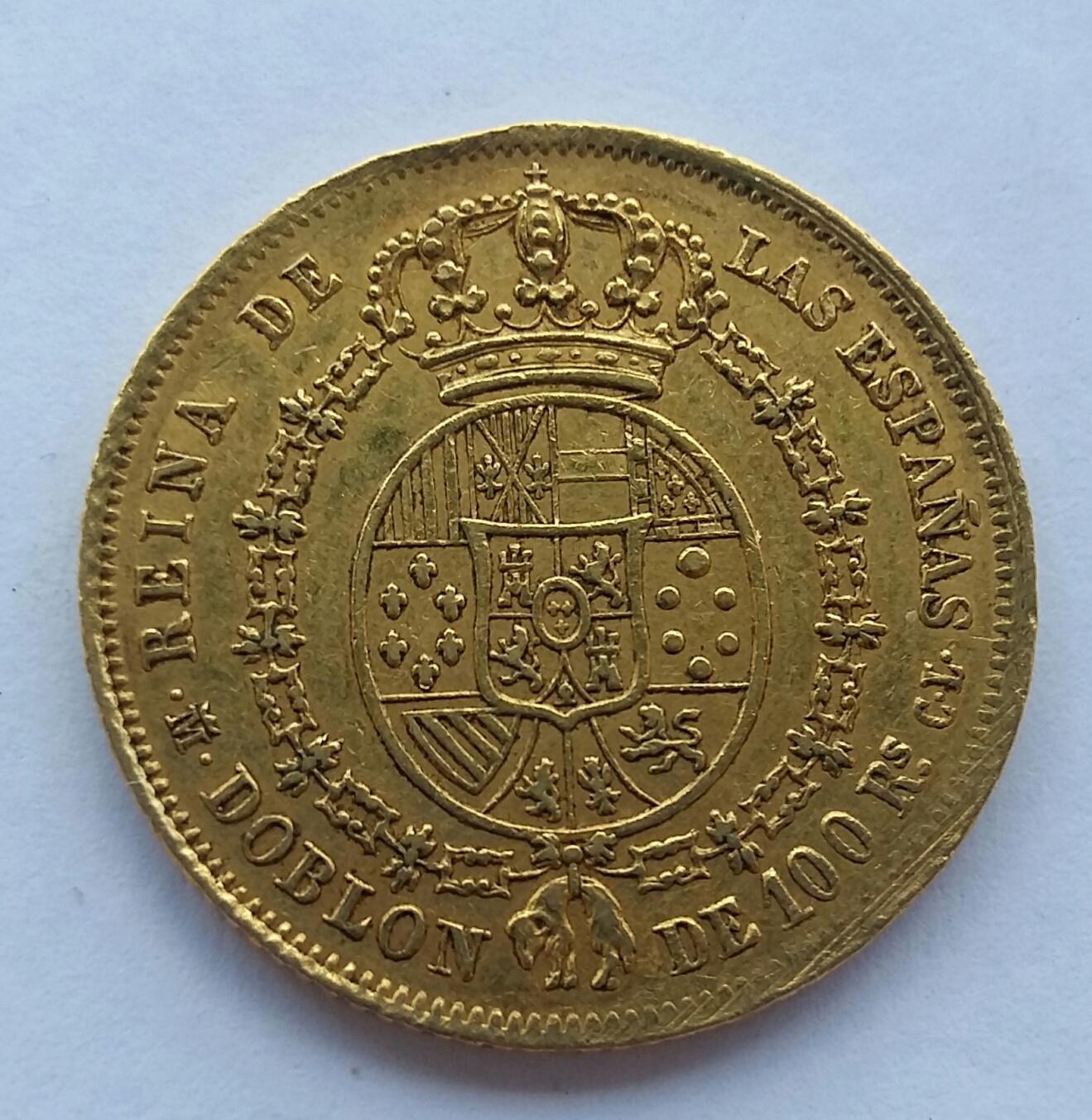 1 Doblon de 100 Reales 1851. Isabel II. Madrid CL 20191112