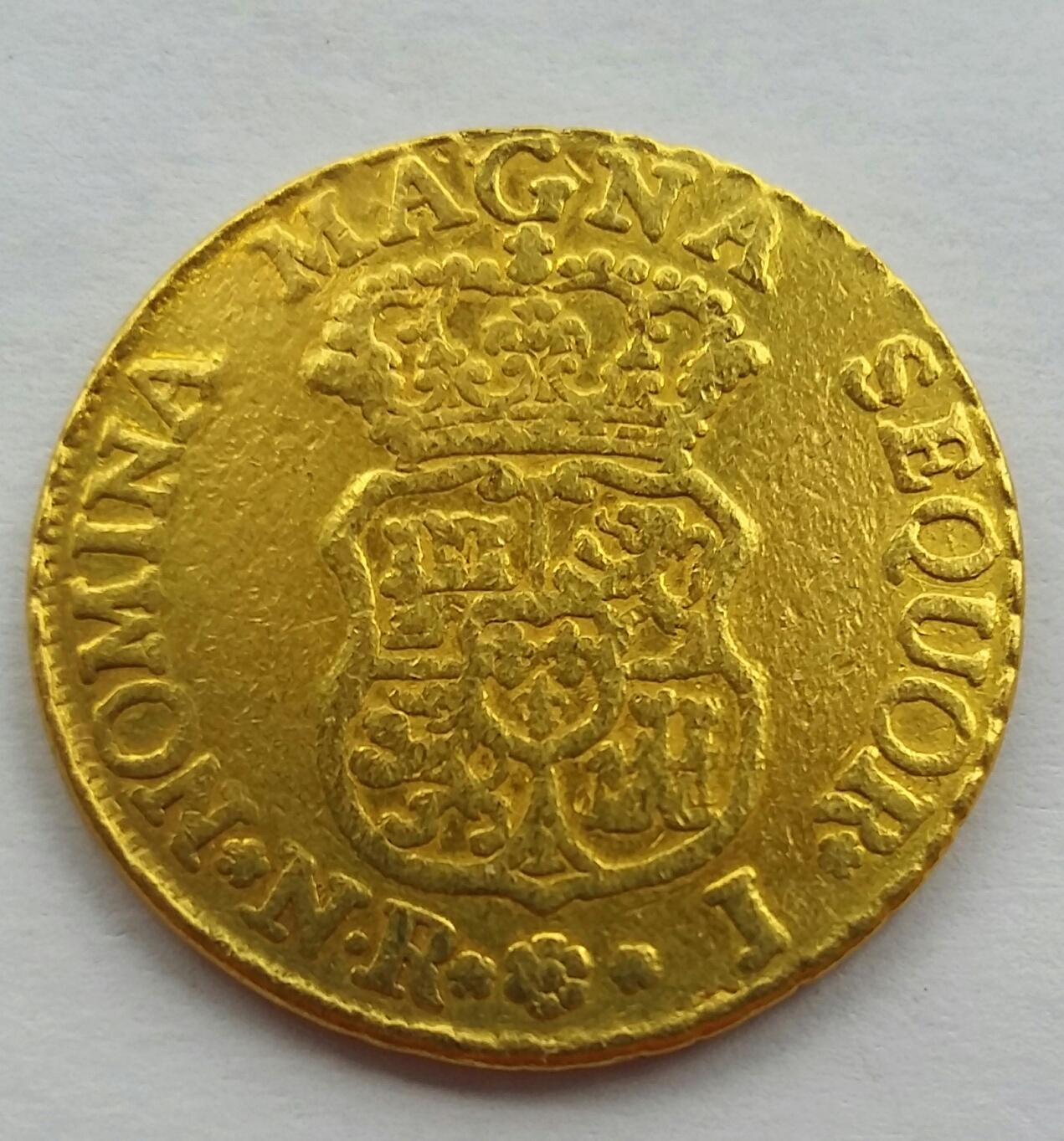 2 Escudos 1759 Santa Fe de Nuevo Reino J - Fernando VI 20191211