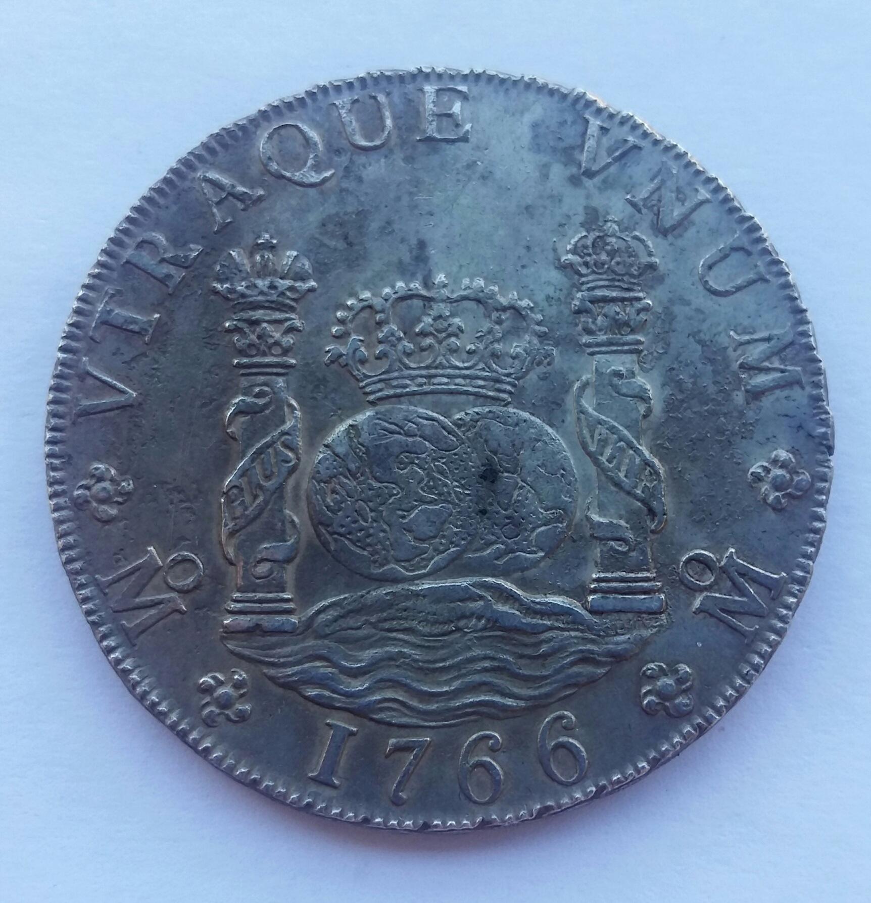 8 Reales 1766. Carlos III. Méjico MF 20200111