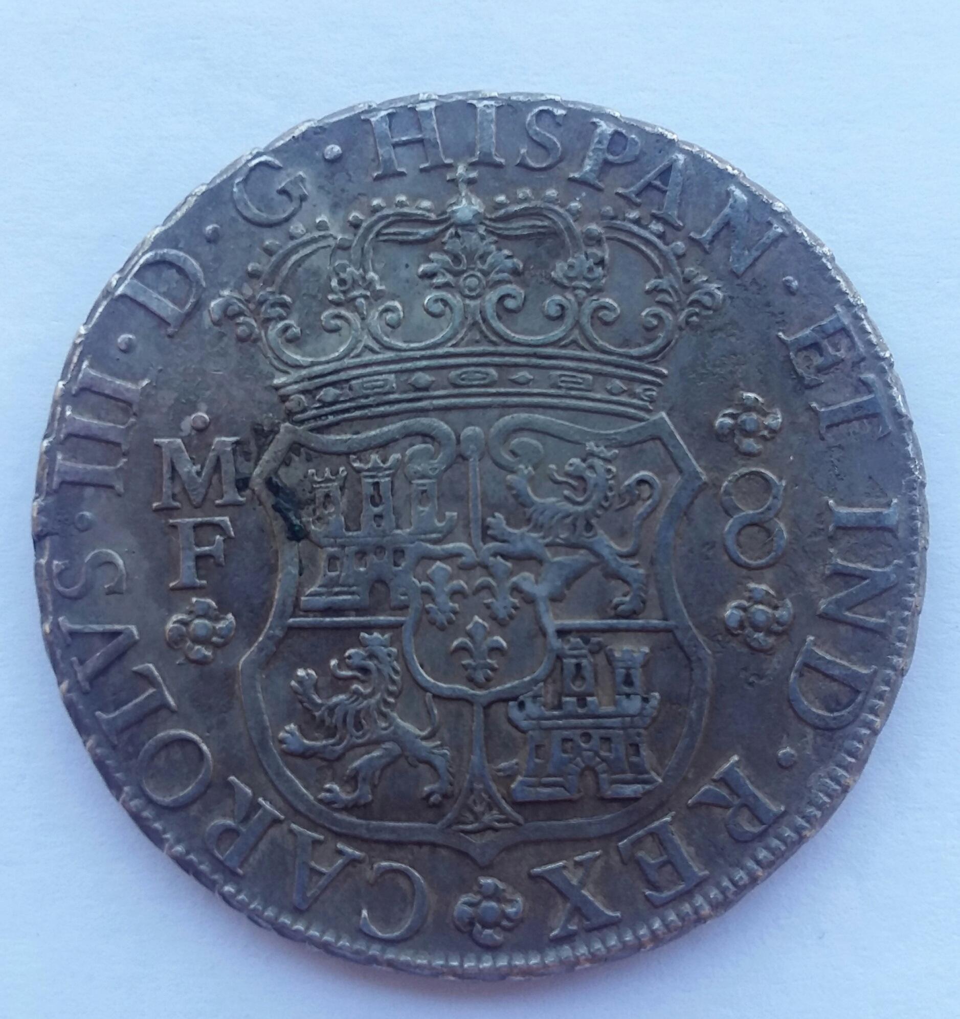 8 Reales 1766. Carlos III. Méjico MF 20200112