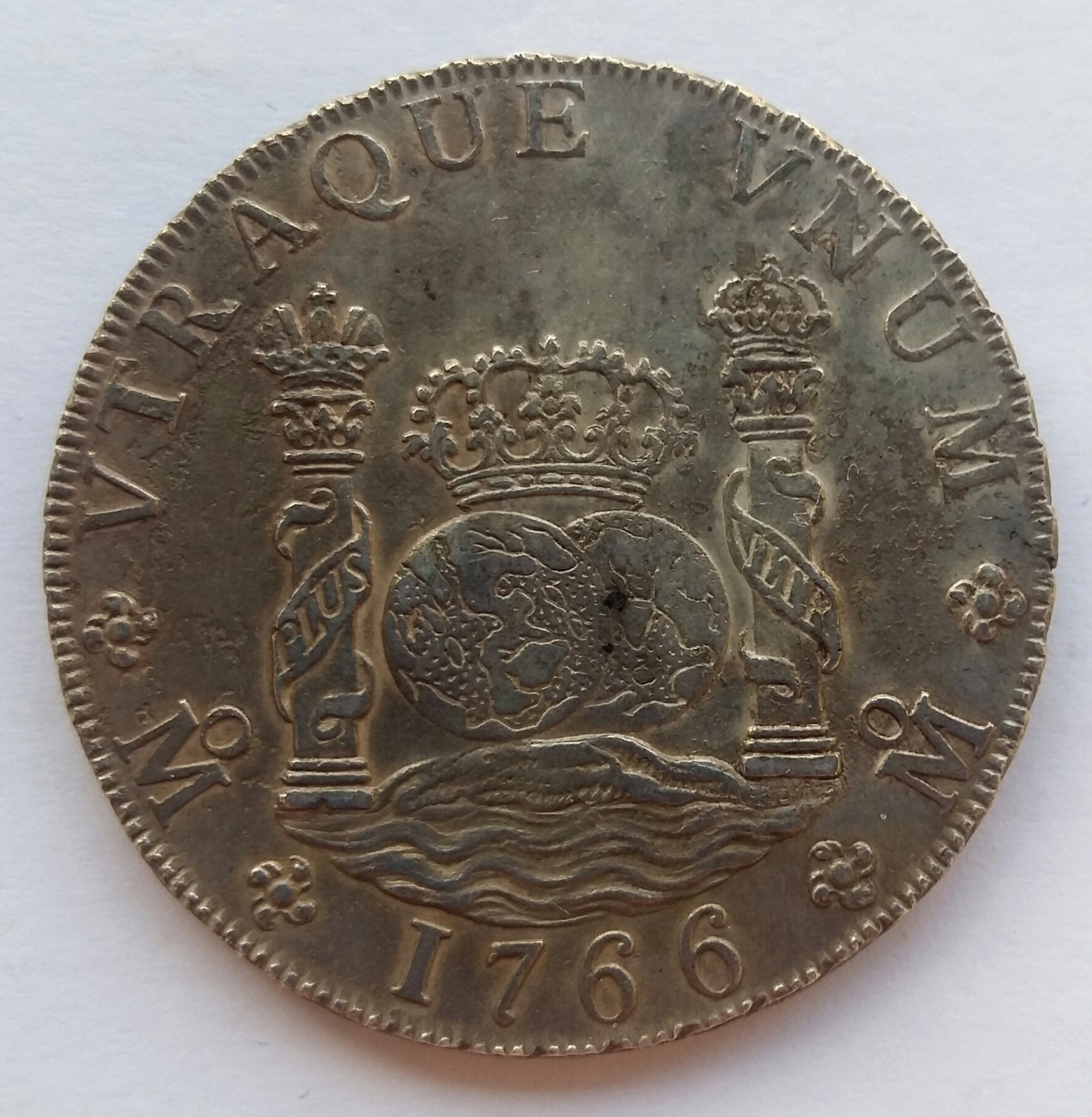 8 Reales 1766. Carlos III. Méjico MF 20200113