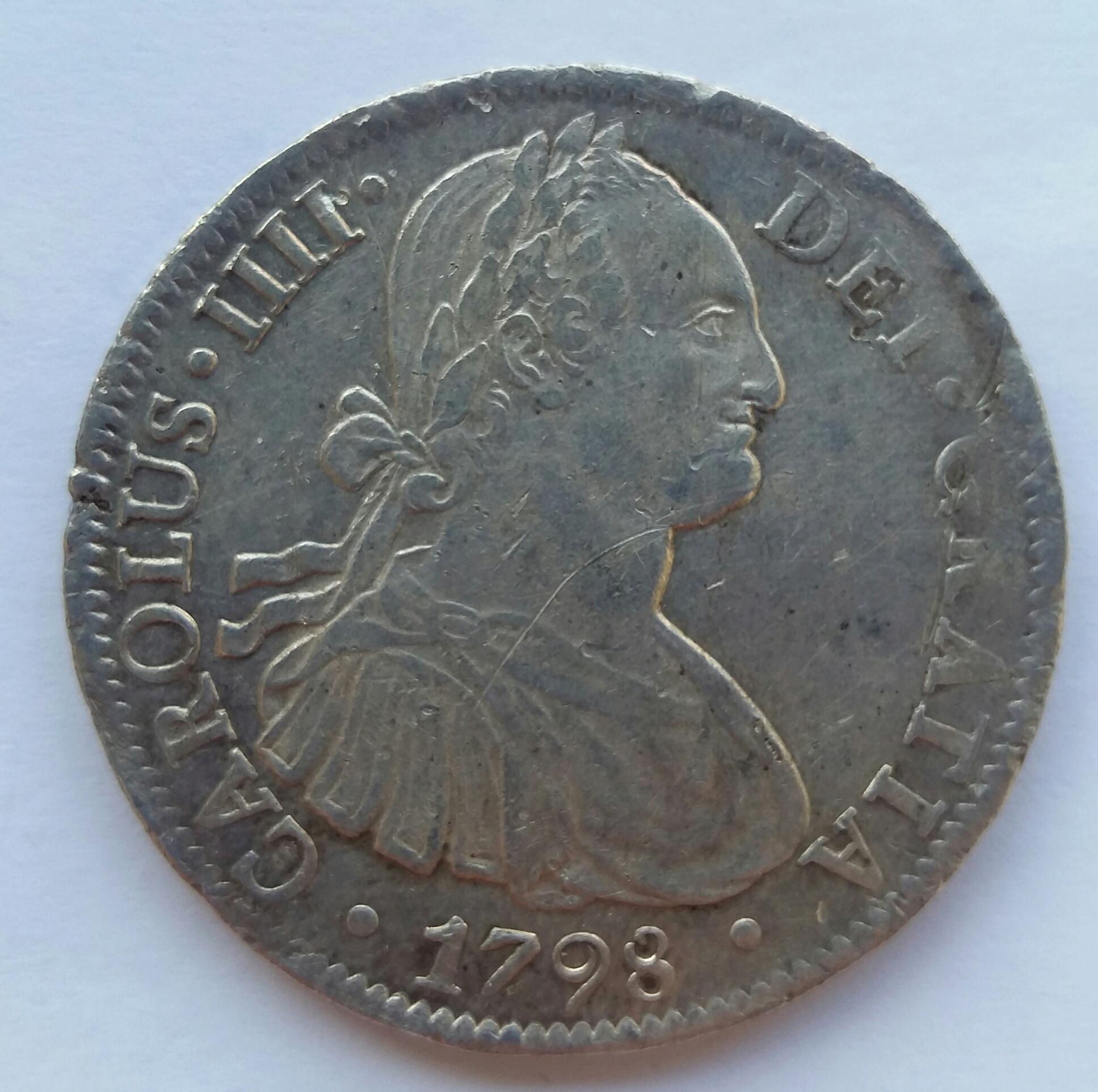 8 Reales 1798. Carlos IV. Mexico FM 20200115