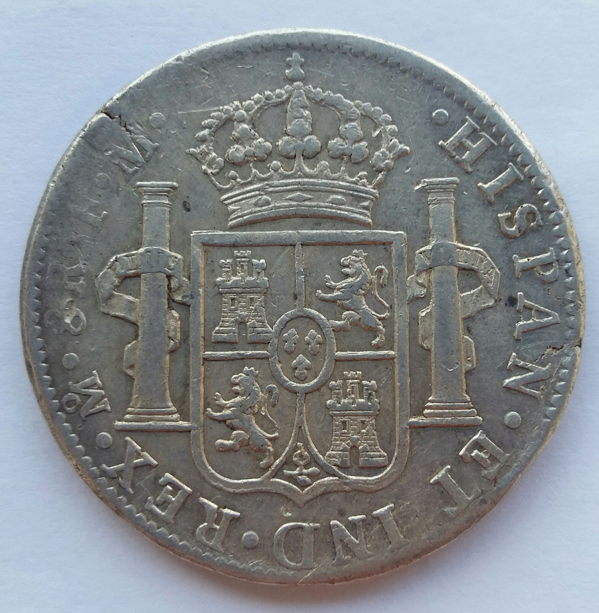 8 Reales 1798. Carlos IV. Mexico FM 20200116