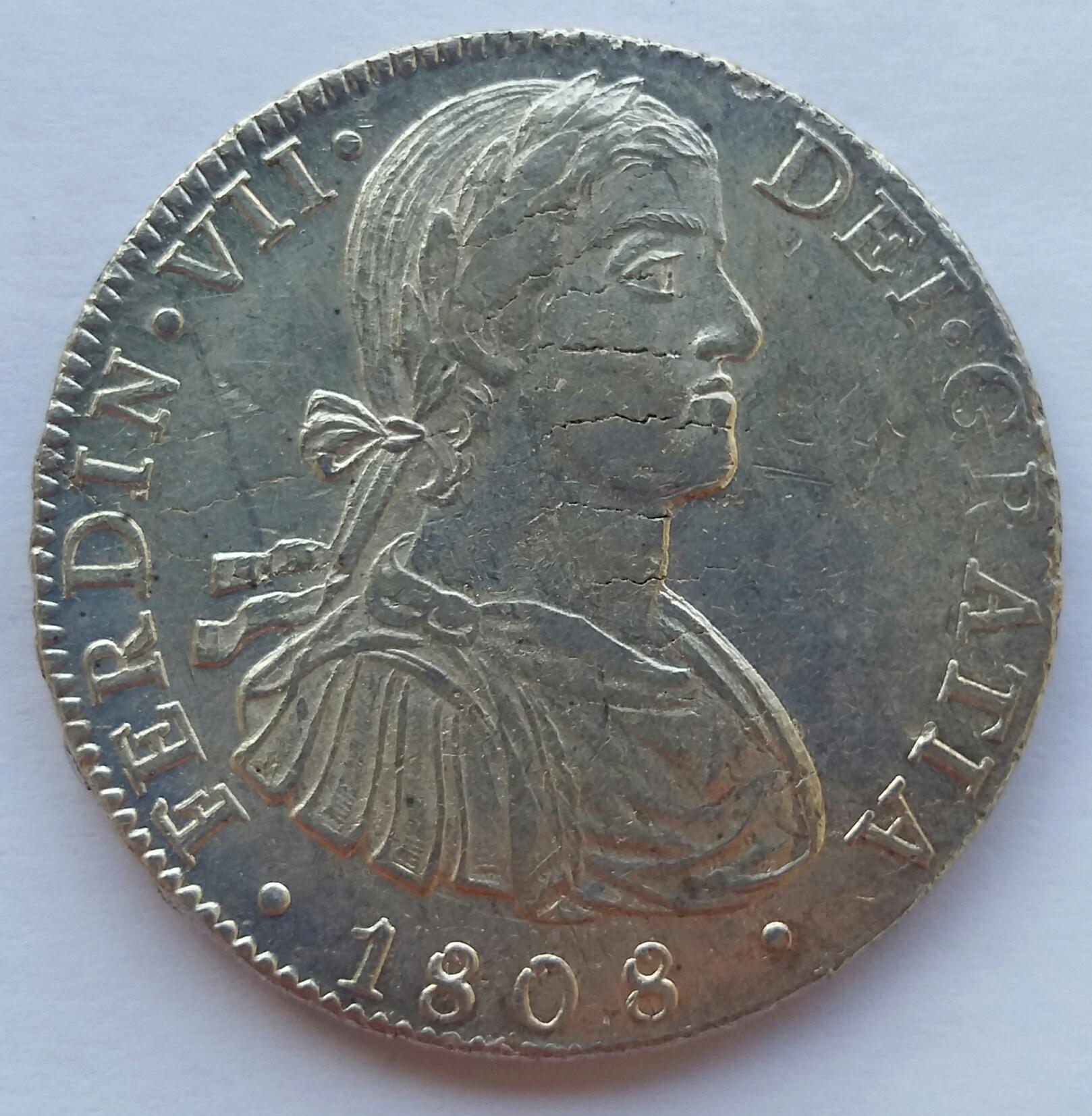 8 Reales 1808. Fernando VII. Méjico TH  20200121
