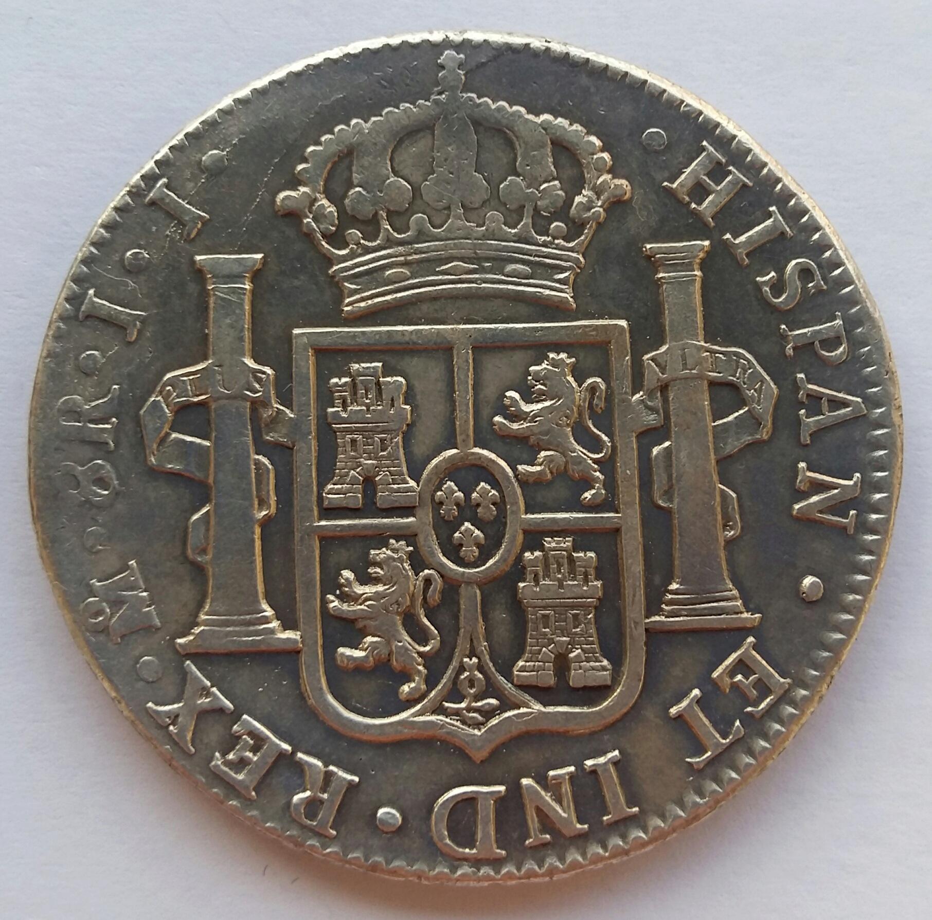 8 Reales 1820. Fernando VII. Méjico JJ  20200126