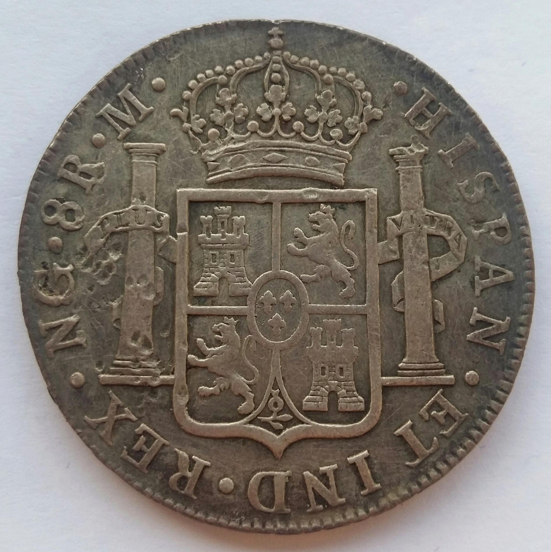 8 Reales 1819. Fernando VII. Guatemala NG 20200131