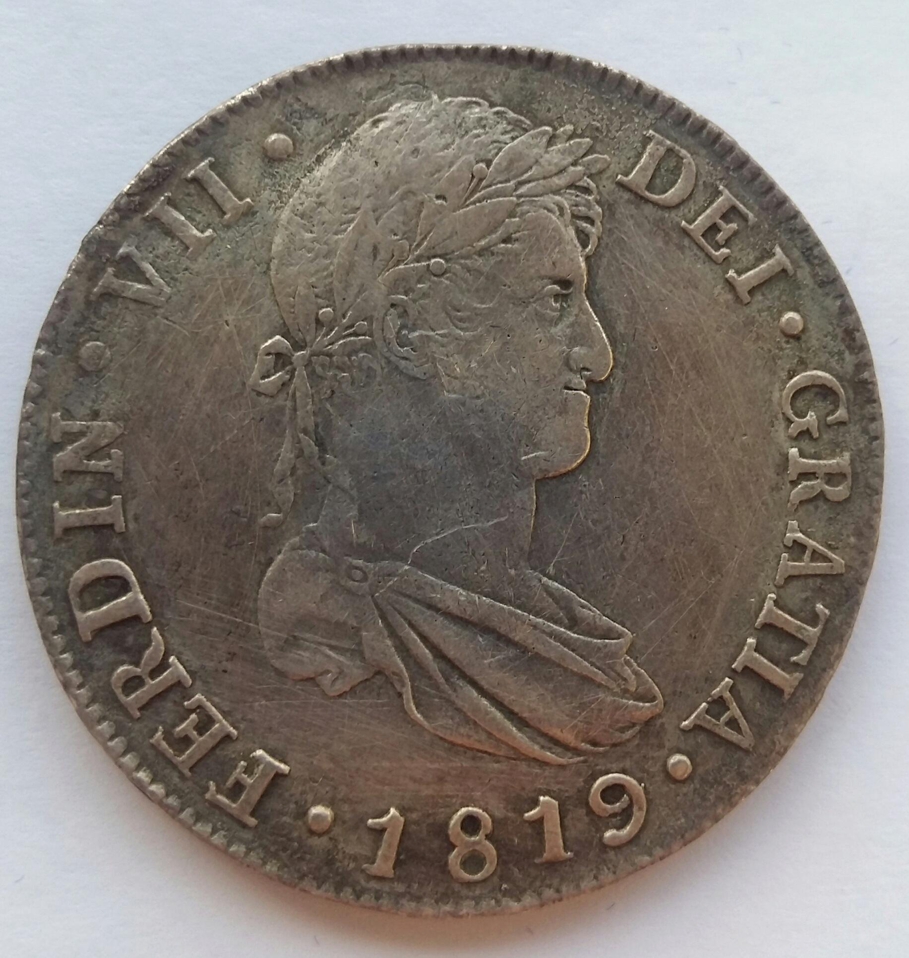 8 Reales 1819. Fernando VII. Guatemala NG 20200132