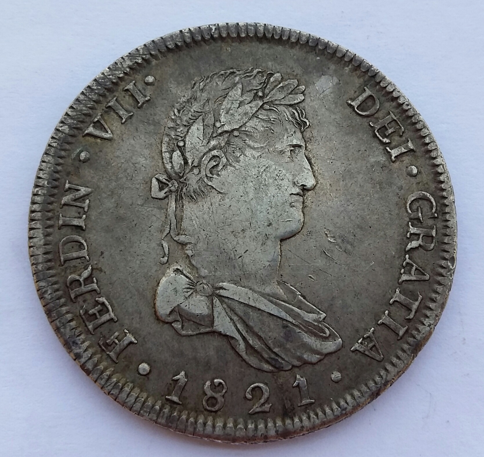 8 Reales 1821. Fernando VII. Guadalajara FS  20200511