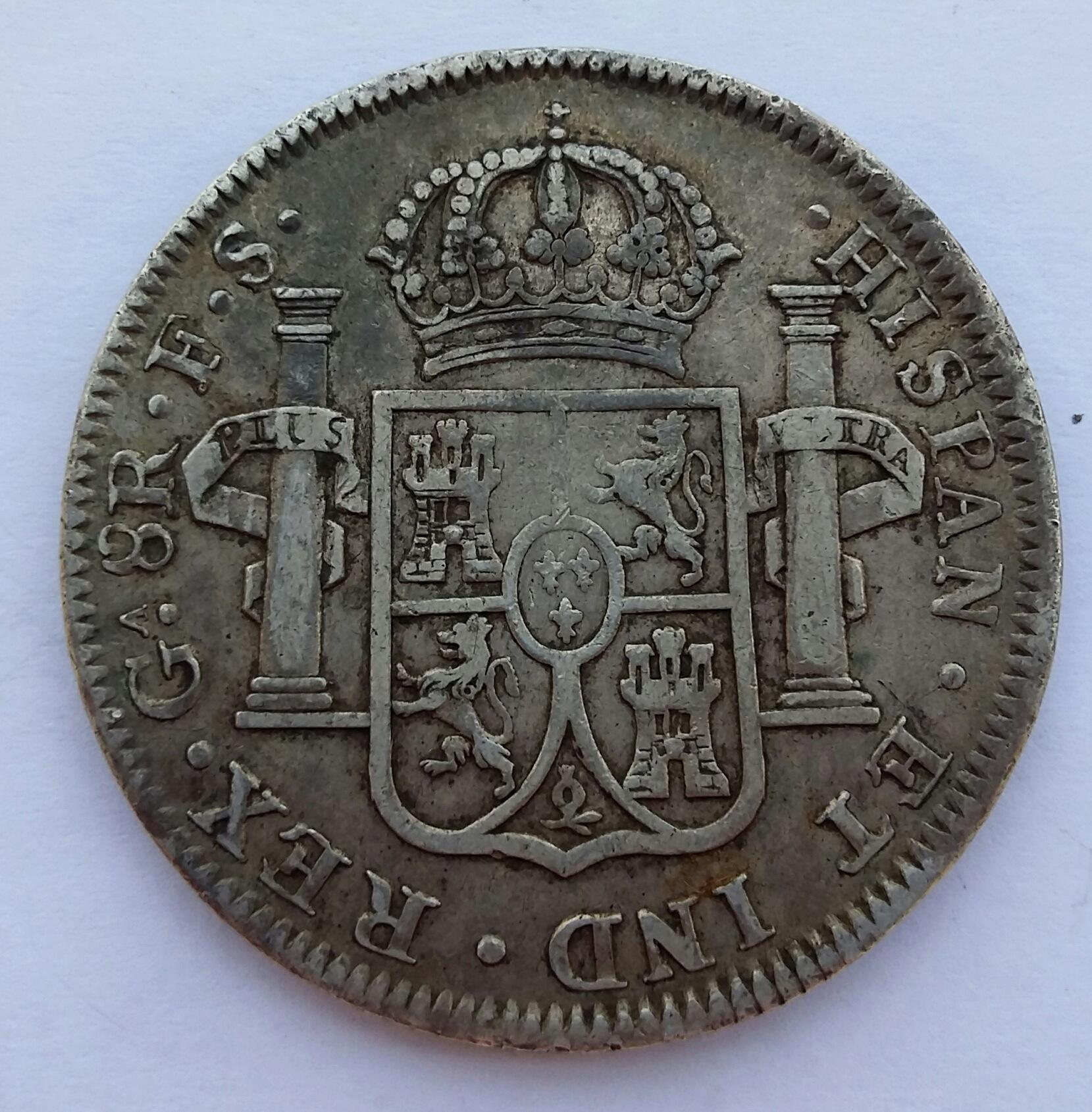 8 Reales 1821. Fernando VII. Guadalajara FS  20200512