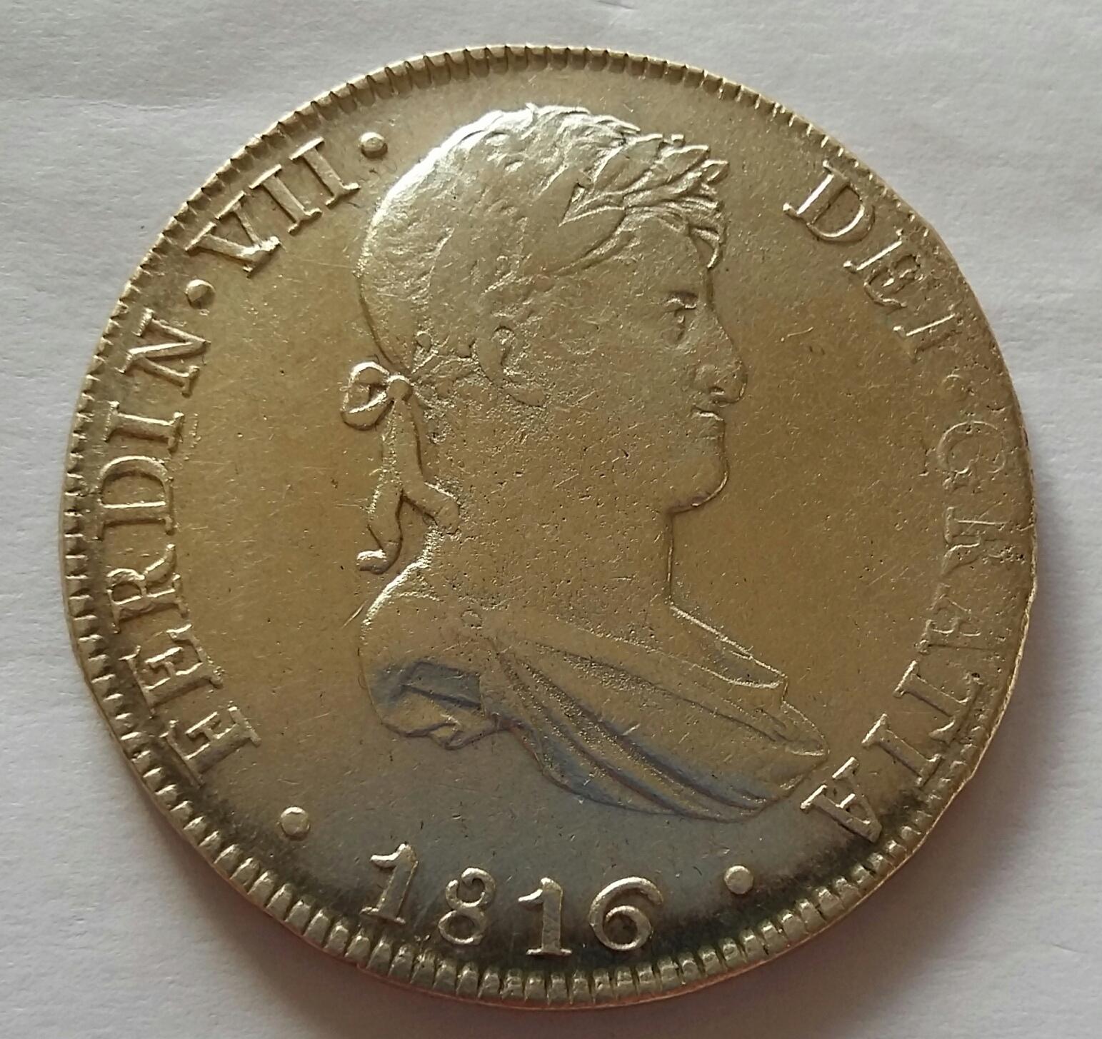 8 Reales 1816. Fernando VII. Lima JP  20200516