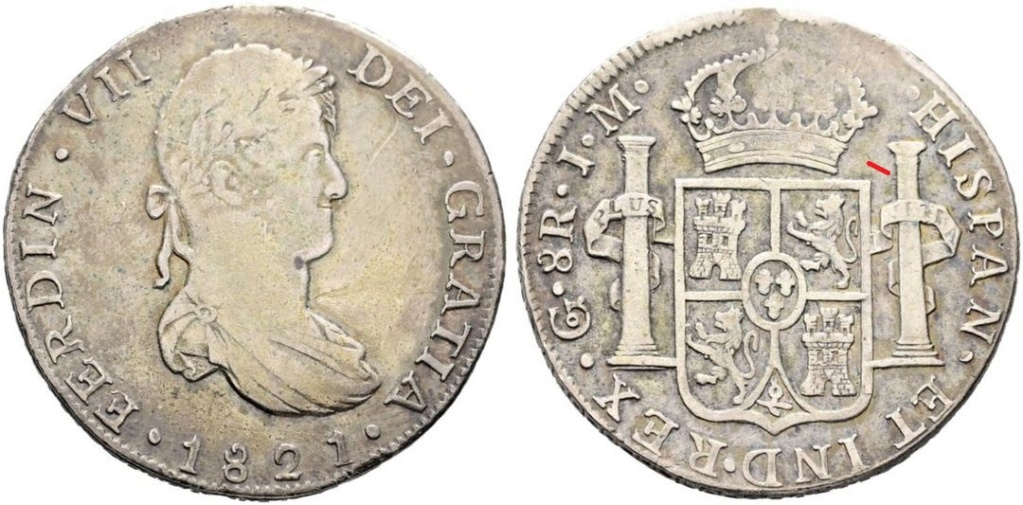 8 Reales 1821. Fernando VII. Guanajuato JM - Página 2 46097310