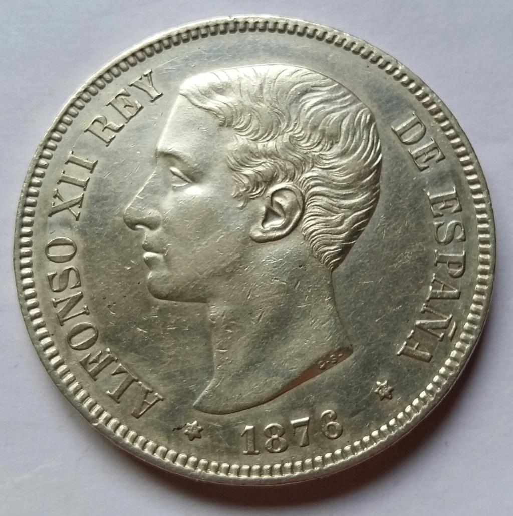 5 Pesetas 1876. Alfonso XII. Madrid DEM 5_pese22