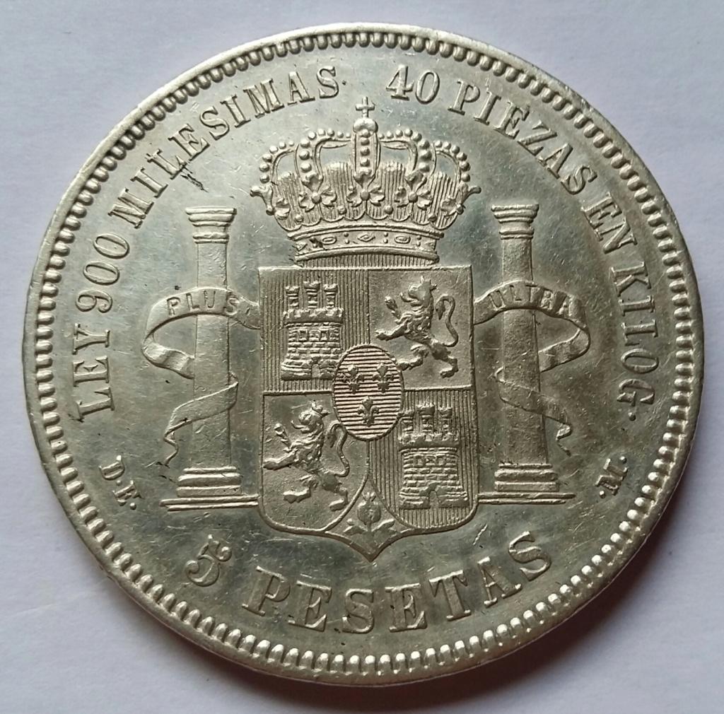 5 Pesetas 1876. Alfonso XII. Madrid DEM 5_pese23