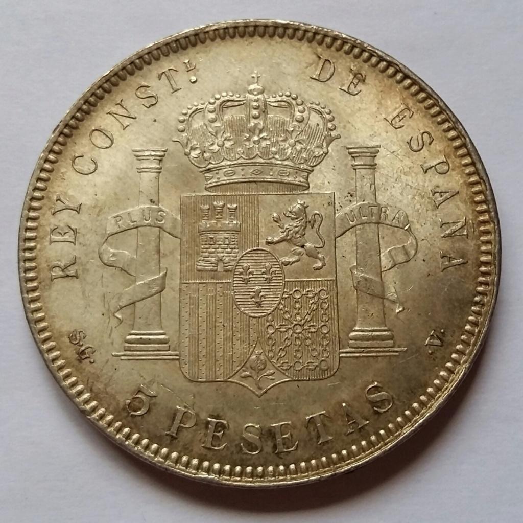 5 Pesetas 1899. Alfonso XIII. Madrid SGV 5_pese25