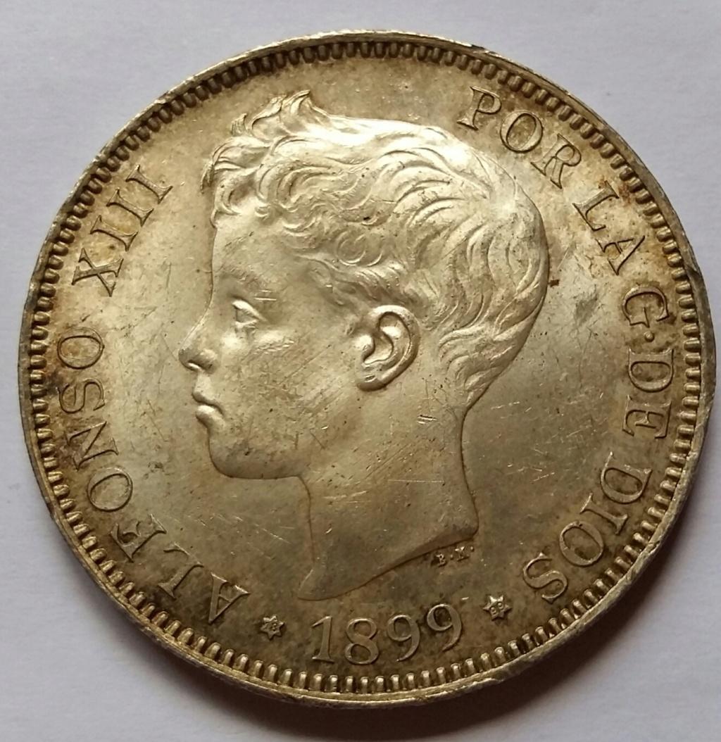 5 Pesetas 1899. Alfonso XIII. Madrid SGV 5_pese26