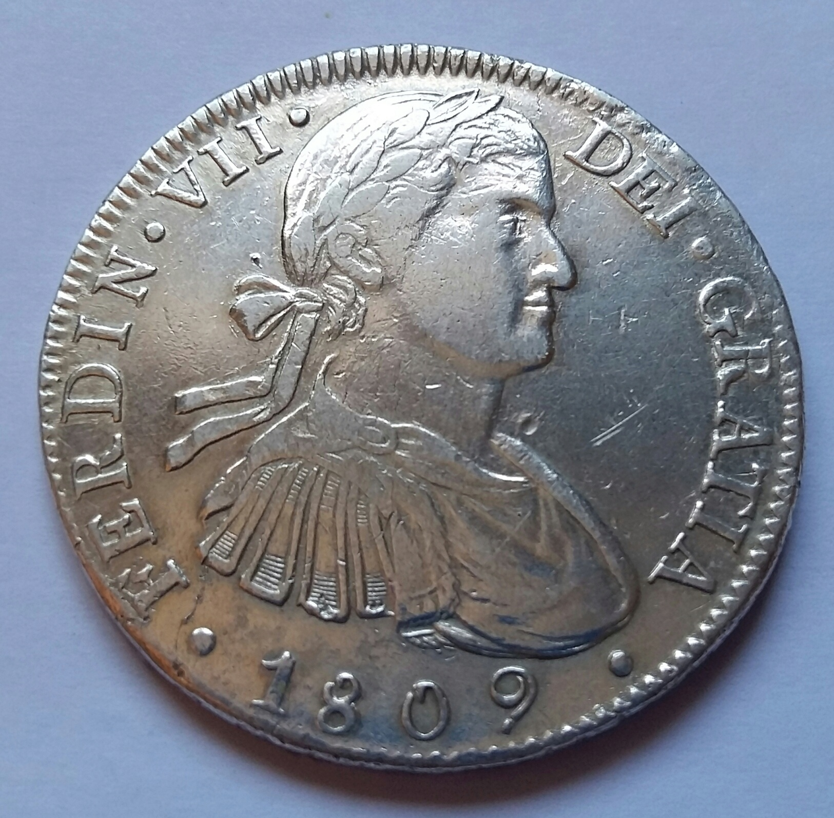 8 Reales 1809. Fernando VII. Méjico TH 8_real11
