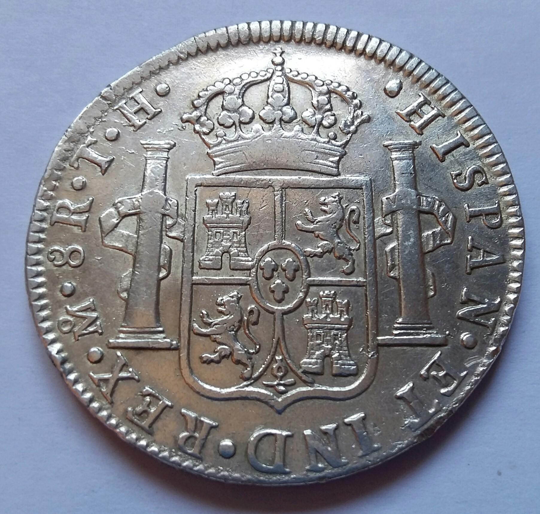 8 Reales 1809. Fernando VII. Méjico TH 8_real12