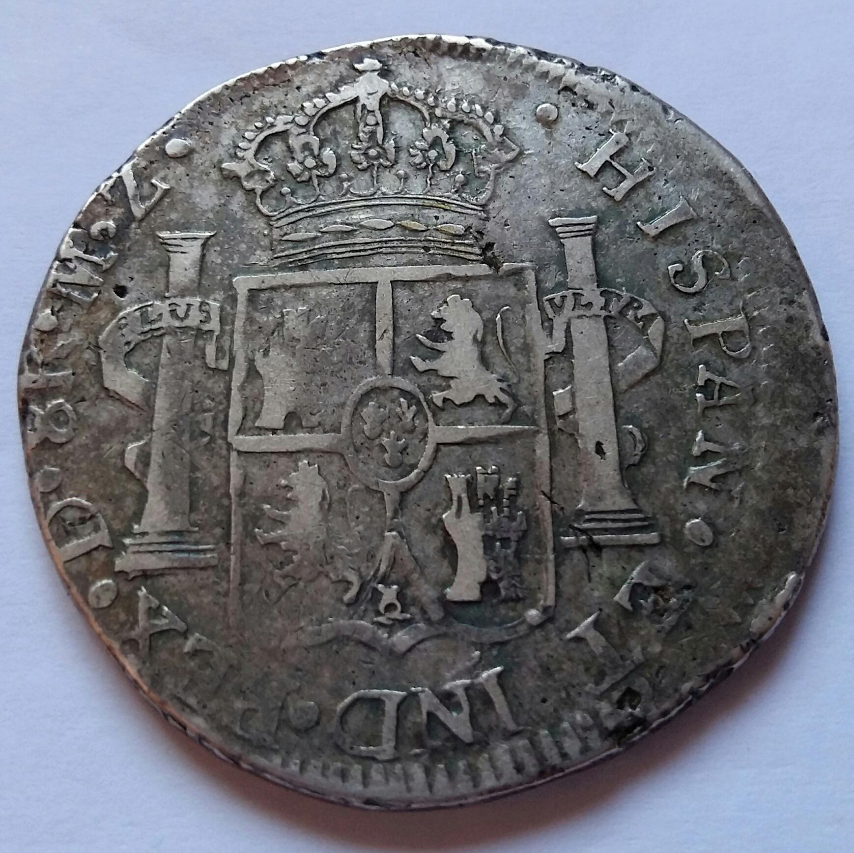 8 Reales 1816. Fernando VII. Durango MZ 8_real15