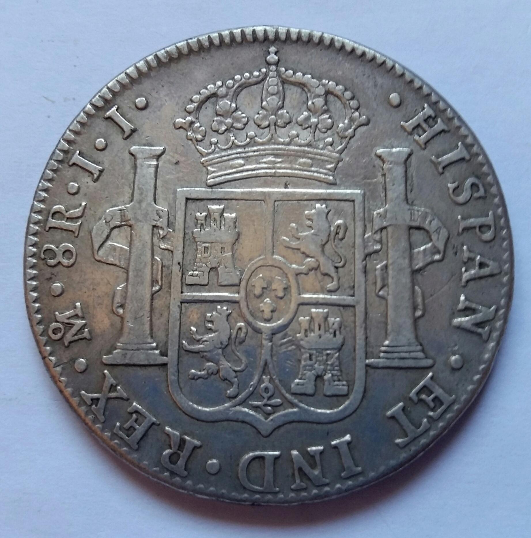 8 Reales 1821. Fernando VII.  México JJ 8_real16