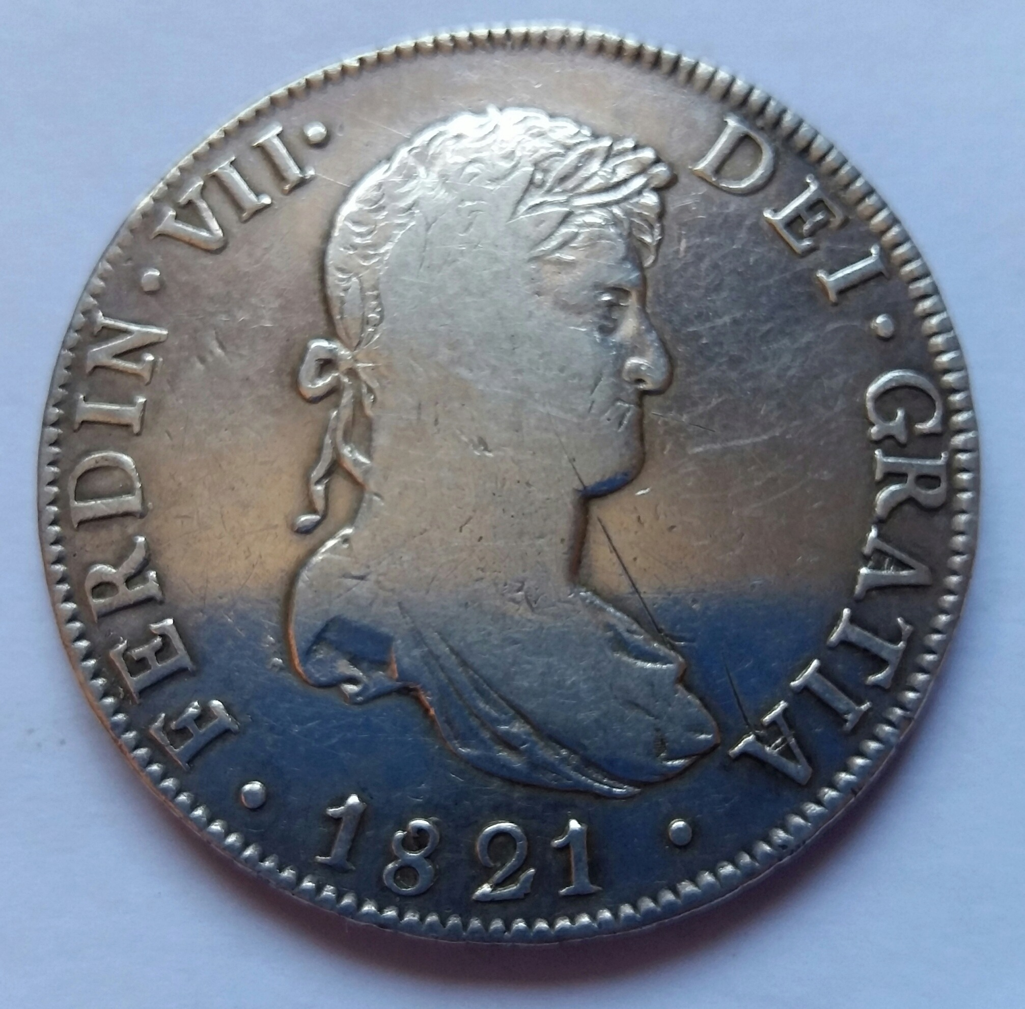 8 Reales 1821. Fernando VII.  México JJ 8_real17