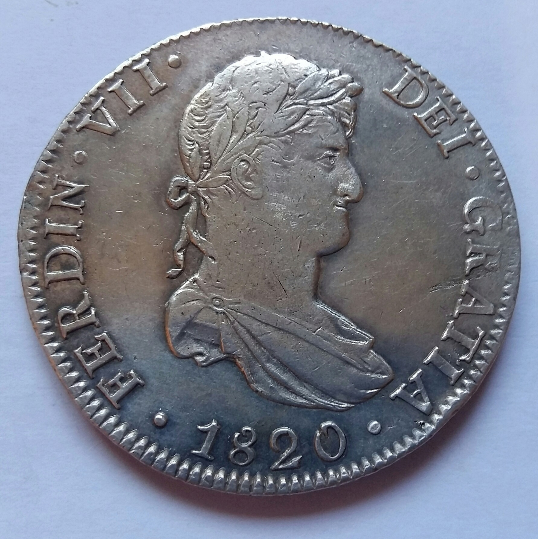 8 Reales 1820. Fernando VII. México JJ  8_real24