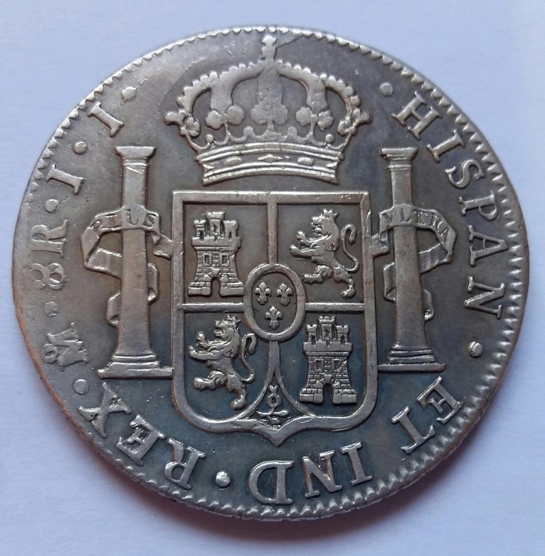 8 Reales 1820. Fernando VII. México JJ  8_real25
