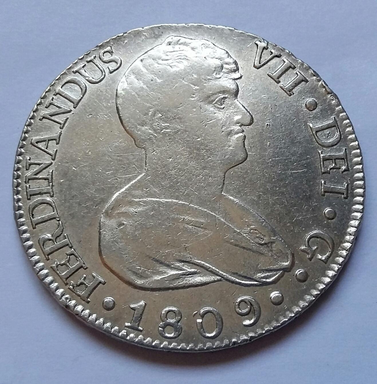 8 Reales 1809. Fernando VII. Sevilla CN 8_real36